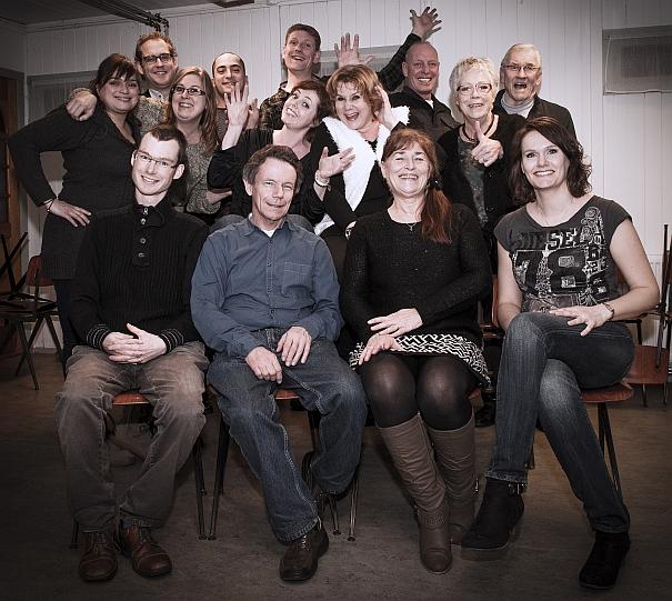 Toneelvereniging Micro groepsfoto 2015