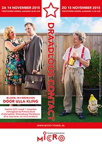 Toneelvereniging Micro Poster Voorstelling Draadloos Contact